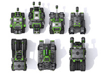 combat tanks set 3d fbx
