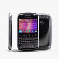 low-poly blackberry 9360 black max
