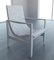 3d model chair risom lounge