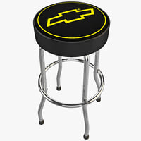 3d chevy garage stool design