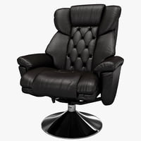 3ds max deluxe leather recliner chair