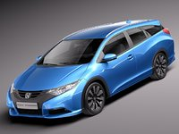 3ds max honda 2014 civic