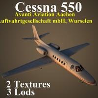 cessna 550 clu 3d max