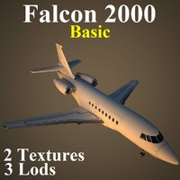 dassault falcon basic 3d max
