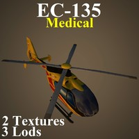 eurocopter med 3d max
