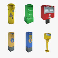 spain post mailbox 01 3d model