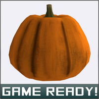 autumn pumpkin 2 3d model