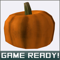 3d model autumn pumpkin 7