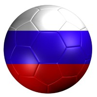 3ds soccer ball russia flag