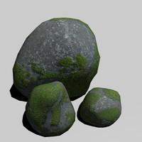 stones rocks 3d obj