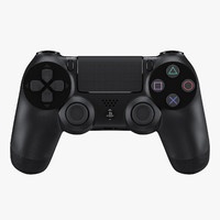 3d sony playstation 4 controller model