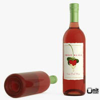 bottle wine pink 3ds
