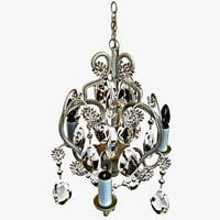 3d model tadpoles bulb chandelier