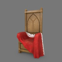 obj wooden throne