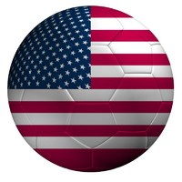3d soccer ball usa flag model