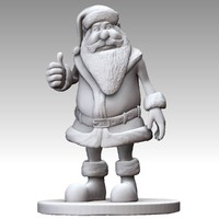 cartoon santa claus obj