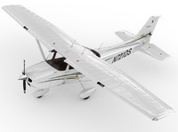 cessna 172 skyhawk 3d obj