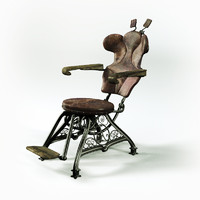 vintage dentist chair obj