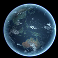 earth modeled 3d model