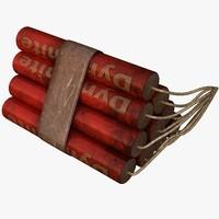 3d dynamite model