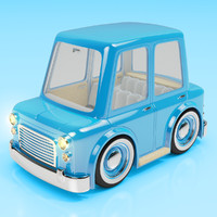 cartoon car sedan 3d model