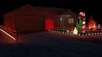 decorations house 3d obj