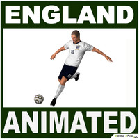 3d model england soccer player cg