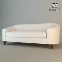 baker oval sofa max