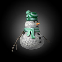 3ds max snowman snow