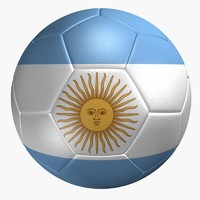 3ds soccer ball argentina flag