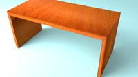 obj simple wood table
