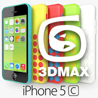 apple iphone 5c 3d max