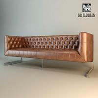 3d model eichholtz sofa crawford