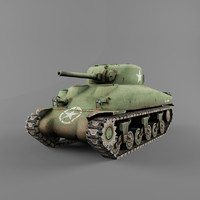 3ds max m4 sherman wwii
