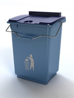 trash recycling bin 3d obj