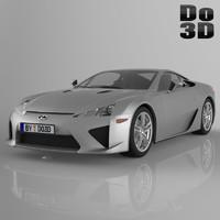 3d lexus lfa 2013 model