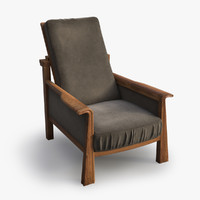 Vintage wood armchair