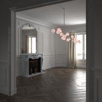 parisian interior haussmann 3d model