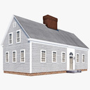 Cape Cod House 3D models