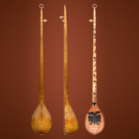 3d cifteli musical instrument model