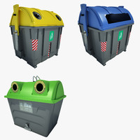garbage container 3d max