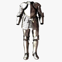 knight body armor 3d model