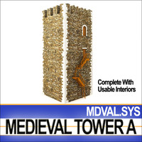 3ds medieval tower