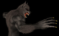 3d weredog hell series model