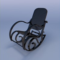 chair rocking 3d 3ds