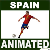 3d model spain soccer player cg