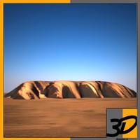 3d model of uluru rock
