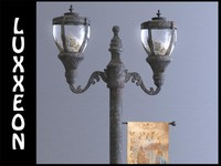 free antique street lamp 3d model