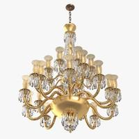 chandelier big 3d model