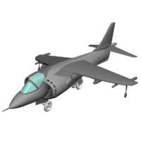 3d harrier jet model